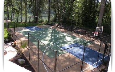 tennis court construction backyard basketball court installation portland oregon sw washington