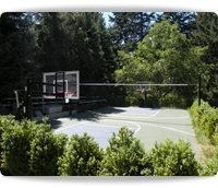 tennis basketball pickleball game court construction installation