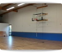gymnasium basketball court hoops