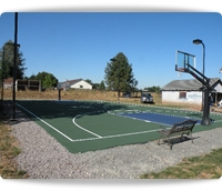 basketball court construction and backyard basketball courts