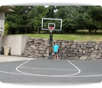 adjustable hoops for basketball courts