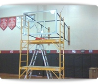 basketball hoops delivery installation service