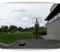 basketball court fixed height hoops