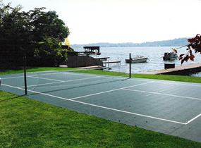 photo gallery of pickleball courts