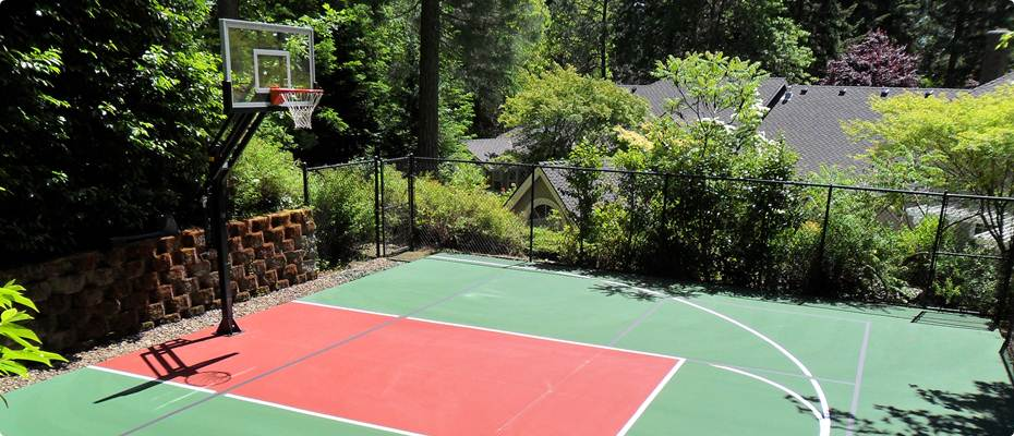 Basketball Court Installation by Home Court