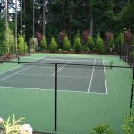 tennis court installation by home court