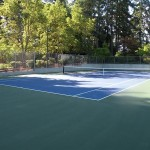 another tennis court installation