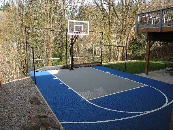Home court 28 images indoor basketball courts homes of for How much does a half court basketball court cost