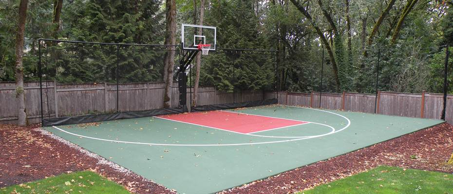 Backyard Basketball Court Installation