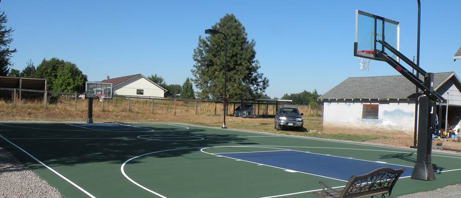 Outdoor basketball court by Home Court in near Portland, Oregon